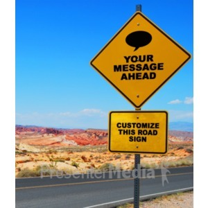 ID# 18648 - Desert Road Sign - Presentation Clipart