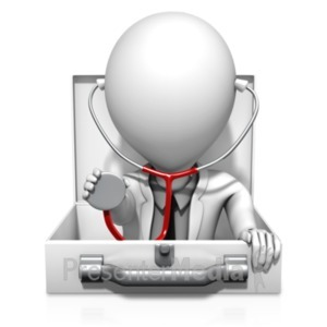 ID# 18655 - Medical Inquiry Doctor - Presentation Clipart