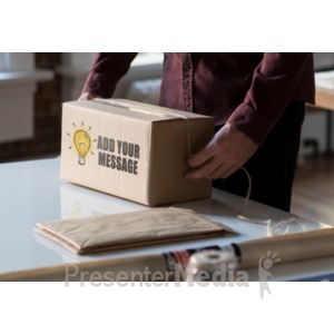 ID# 18665 - Shipping Box Background - Presentation Clipart