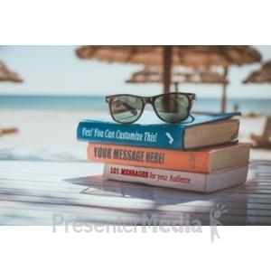 ID# 18681 - Three Books Vacation - Presentation Clipart