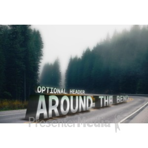 ID# 18687 - Around The Bend Custom Text - Presentation Clipart