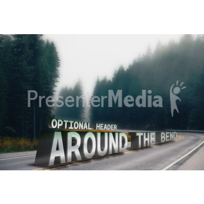 Around The Bend Custom Text PowerPoint Clip Art