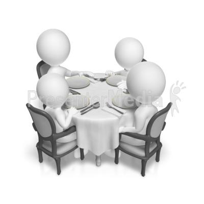 Dinner Table Family PowerPoint Clip Art