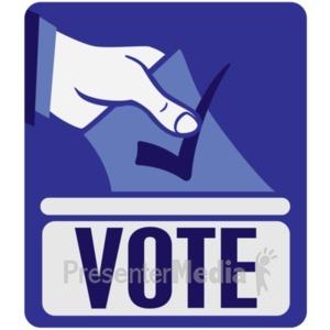 ID# 18704 - Vote Ballot Box Insert - Presentation Clipart