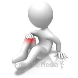 ID# 18709 - Knee Problems Injury - Presentation Clipart