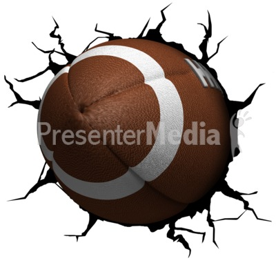 Crack Wall Football PowerPoint Clip Art