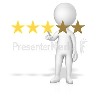 Figure 3 Of 5 Stars PowerPoint Clip Art