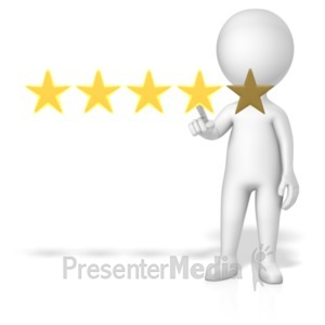 ID# 18777 - Figure 4 Of 5 Stars - Presentation Clipart