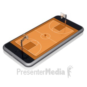 ID# 18824 - Smart Phone Basketball - Presentation Clipart