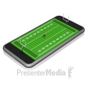 ID# 18829 - Smart Phone Football - Presentation Clipart