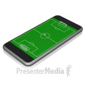 ID# 18830 - Smart Phone Soccer - Presentation Clipart
