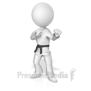 Martial artist kick sports and recreation great clipart for id 18862 martial artist black belt presentation clipart toneelgroepblik Images