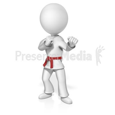 Martial Artist Custom Belt Presentation clipart