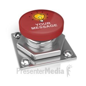 ID# 18887 - Big Button Custom - Presentation Clipart