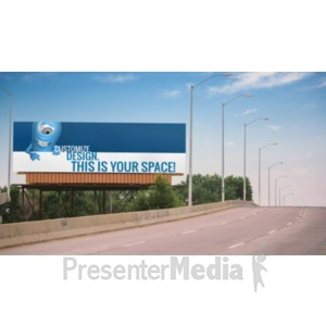 ID# 18901 - Bridge Custom Billboard - Presentation Clipart