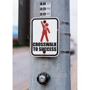 ID# 18905 - Crosswalk Sign Custom - Presentation Clipart