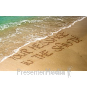 ID# 18916 - Message In The Sand - Presentation Clipart