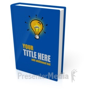 ID# 18918 - Upright Book Cover - Presentation Clipart