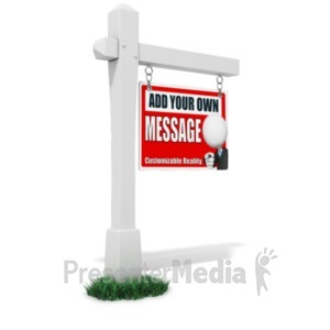 ID# 18939 - For Sale Sign Custom - Presentation Clipart