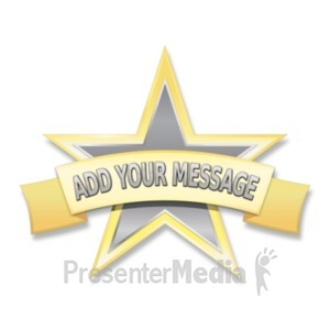 ID# 19018 - Single Star Label - Presentation Clipart