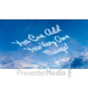 ID# 19033 - Skywriting - Presentation Clipart