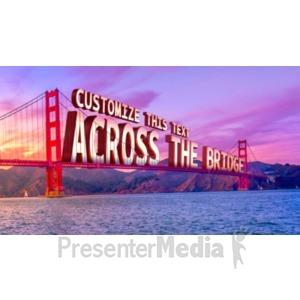 ID# 19057 - Across The Bridge - Presentation Clipart