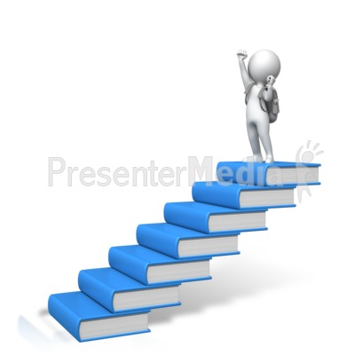 Student Books Success PowerPoint Clip Art