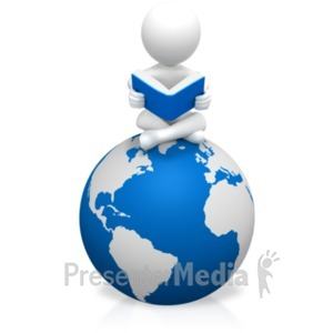 ID# 19061 - Figure Education World - Presentation Clipart