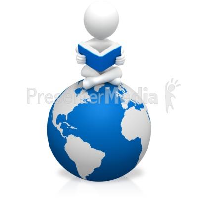 Figure Education World PowerPoint Clip Art