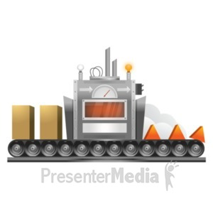 ID# 19074 - Process Machine Conversion - Presentation Clipart
