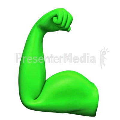 Flexing Bicep Muscle PowerPoint Clip Art