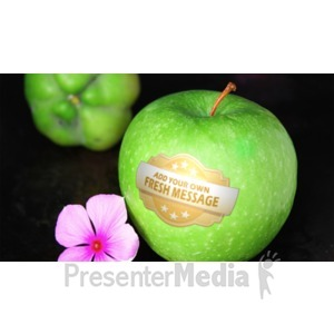 ID# 19092 - Apple Writing - Presentation Clipart