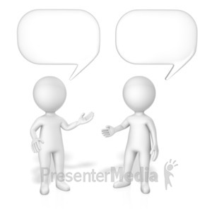 ID# 19093 - Figures Speech Bubbles - Presentation Clipart