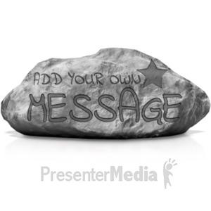 ID# 19105 - Written In Stone - Presentation Clipart