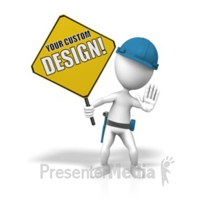 ID# 19142 - Construction Custom Sign - Presentation Clipart