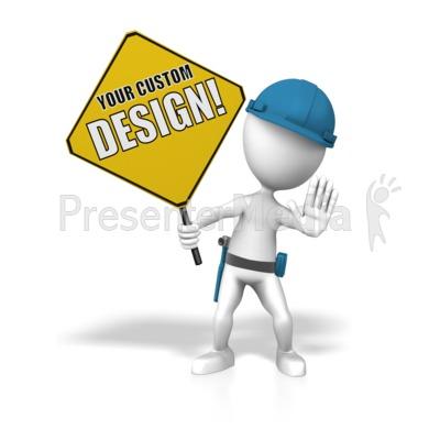 Construction Custom Sign Presentation clipart
