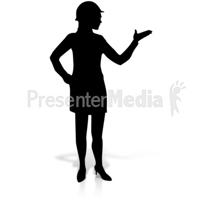 Woman Display Construction Silhoutte PowerPoint Clip Art