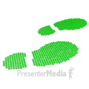 ID# 19193 - Digital Footprint - Presentation Clipart