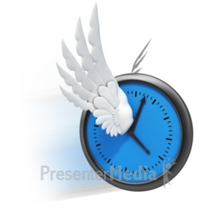 ID# 19204 - Time Flies Wings - Presentation Clipart
