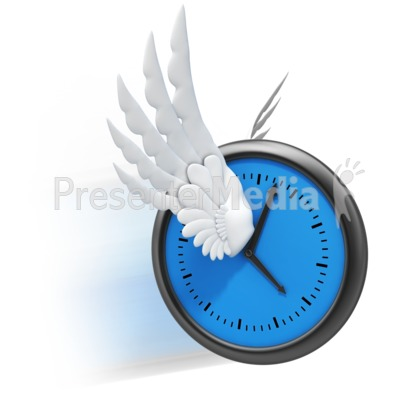 Time Flies Wings PowerPoint Clip Art