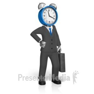 ID# 19239 - Clock Head Ready - Presentation Clipart