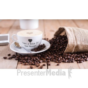 ID# 19249 - Coffee Break - Presentation Clipart