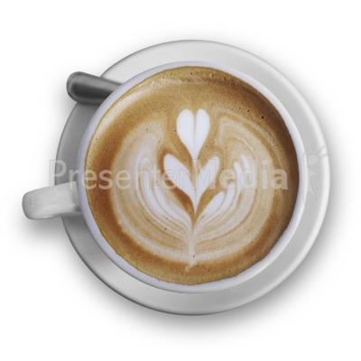 Top Of The Cappuccino PowerPoint Clip Art