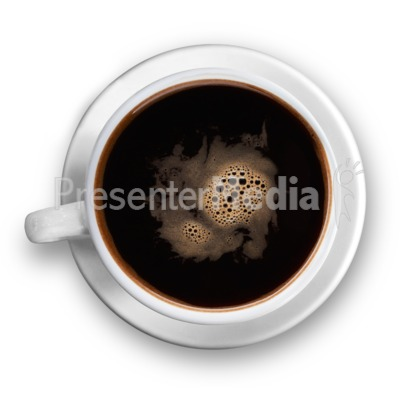Top Of The Black Coffee Cup PowerPoint Clip Art