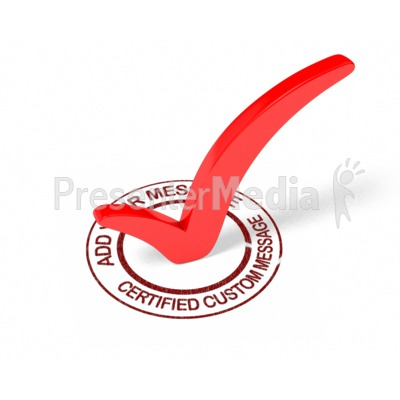Certified Check Mark Custom PowerPoint Clip Art
