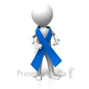 ID# 19301 - Awareness Ribbon Around Figure - Presentation Clipart