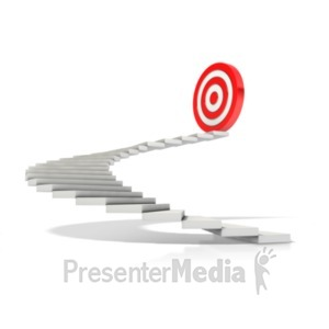 ID# 19306 - Stairway To Target - Presentation Clipart