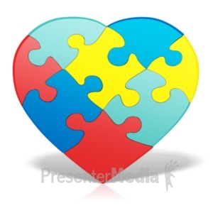 ID# 19314 - Autism Heart Puzzle - Presentation Clipart