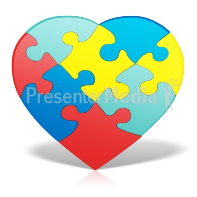 Autism heart puzzle signs and symbols great clipart for autism heart puzzle powerpoint clip art toneelgroepblik Gallery