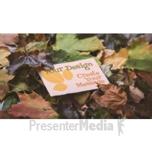 ID# 19327 - Message Card In Leaves Custom - Presentation Clipart